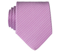 Krawatte - violett/ weiss