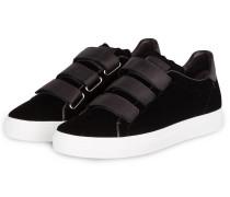 Samt-Sneaker BASKET - schwarz