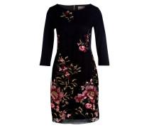 Kleid  mit Stickereien - schwarz