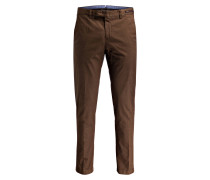 Chino LUINO-D Shaped-Fit - braun