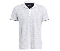 Poloshirt ANTEK - weiss/ schwarz meliert