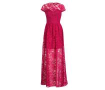 Abendkleid aus Spitze - pink