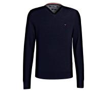 Lambswool-Pullover - dunkelblau