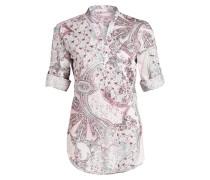 Bluse AOP mit 3/4-Arm - rosa