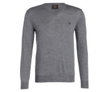 Schurwoll-Pullover ERNEST - grau meliert