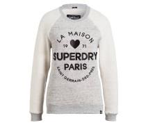 Sweatshirt - grau meliert/ schwarz