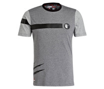 T-Shirt - grau meliert/ schwarz