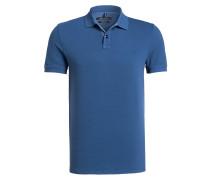 Piqué-Poloshirt Shaped-Fit - blau