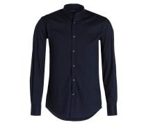 Hemd Slim-Fit mit Stehkragen - dunkelblau
