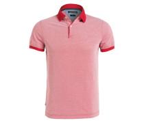 Piqué-Poloshirt Slim-Fit - rot
