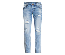Destroyed-Jeans ROCCO Relaxed-Skinny-Fit