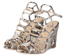 Peeptoe-Wedges WAFLE - grau