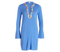 Strickkleid mit Cashmere-Anteil - blau