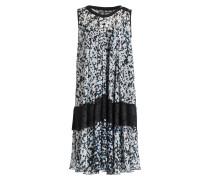 Kleid JANA - schwarz/ weiss/ blau