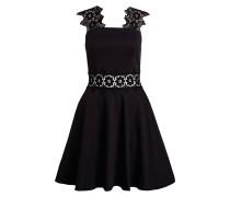 Kleid MONAA mit Spitzeneinsatz - schwarz