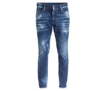 Destroyed-Jeans SKATER Slim-Fit - 470 blau