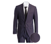 Anzug HUGE6/GENIUS4 Slim-Fit - dunkelrot