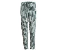 Seidenhose - grün/ ecru