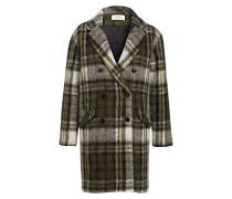 Mantel CLOCK - grün/ grau/ schwarz
