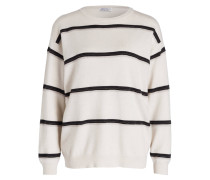 Cashmere-Pullover - weiss