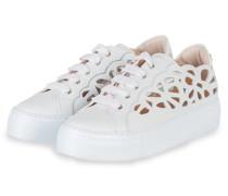 Plateau-Sneaker MANDI - WEISS