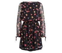 Kleid - schwarz/ rosa/ blau