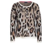 Pullover - creme/ schwarz/ beige