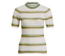 Strickshirt - weiss/ gelb/ schwarz