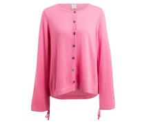 Strickjacke mit Cashmere-Anteil - rosa