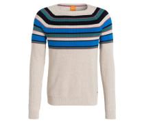 Pullover KASMUD - beige/ blau / petrol