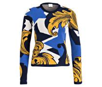 Pullover - dunkelblau/ senfgelb/ blau