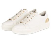 Plateau-Sneaker mit Nieten - weiss