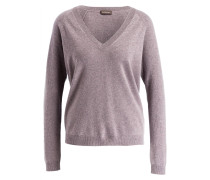 Pullover mit Cashmere-Anteil - hell mauve