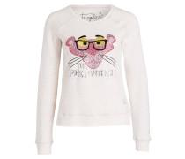 Sweatshirt - schwarz/ pink/ beige meliert