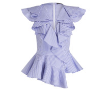 Bluse - hellblau/ weiss gestreift
