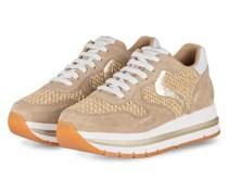 Plateau-Sneaker MARAN - BEIGE/ WEISS/ GOLD