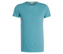 T-Shirt mit Überlänge - blau