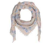 Cashmere-Tuch - ecru/ blau/ pink