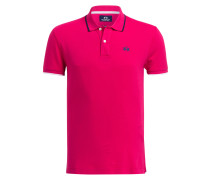 Piqué-Poloshirt Slim-Fit - magenta