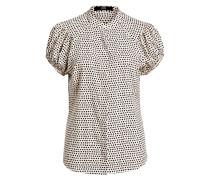 Bluse mit Seidenanteil - creme