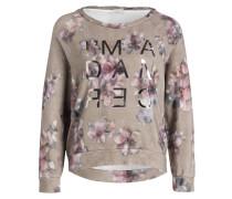 Sweatshirt - beige/ lavendel