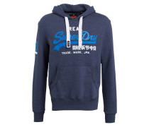 Hoodie - blau meliert