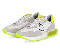 Sneaker LA RUE - WEISS/ NEONGELB/ HELLGRAU