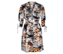 Kleid ROLINA - weiss/ schwarz/ orange