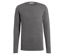 Pullover aus Merinowolle - grau