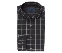 Hemd Tailored-Fit - schwarz/ weiss