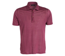 Leinen-Poloshirt - rot