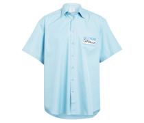 Oversized-Halbarm-Hemd