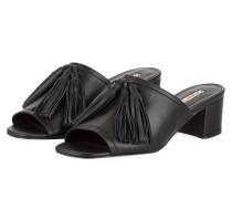 Mules mit Tassel - schwarz