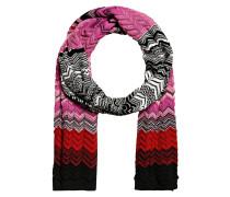 Schal - pink/ rot/ schwarz